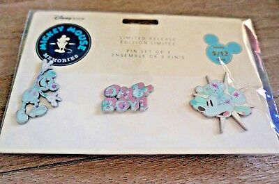 Disney Mickey Mouse Memories May 3 Pin Set Limited Release Series 5/12