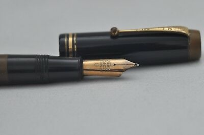 Rare Vintage Oversized Le Tigre No18 Fountain Pen By Conway Stewart Huge #8 Nib