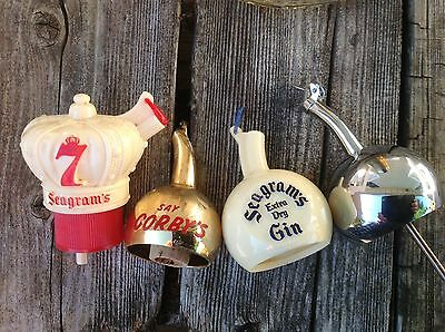 Vintage Bar Room Whiskey Advertising Stoppers Toppers Seagrams New Old Stock