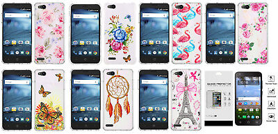 FOR ZTE ZFIVE G C Z557BL Z558VL Lining Stand Case Phone