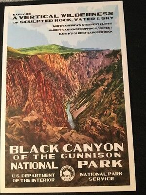 Black Canyon Of The Gunnison National Park WPA Style Postcard