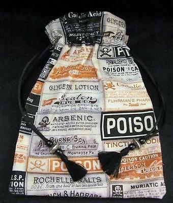 POISON Apothecary Wicca Pagan Cotton Drawstring Mojo Bag Pouch  FREE SHIPPING