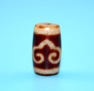 22*13 mm Antique Dzi Agate old Bead from Tibet **Free shipping**