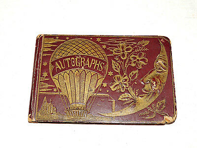 ANTIQUE Dated 1890 Personel, Family, Classmates Autograph Signed Full Book,