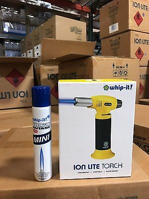 Whip it Ion Lite Butane torch Brand New Life time warranty YELLOW Refill lighter