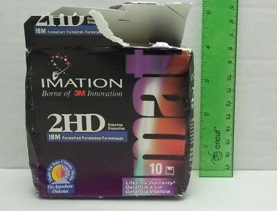 """Imation 2HD Diskettes Lot Of 9 Unused 1.44 MB 3.5"""" Disk"""