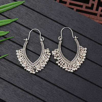 Women Vintage Bohemian Boho Style Heart-shaped Ear Drop Ethnic Retro Earrings