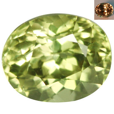 3.33Ct IF Awesome Oval Cut 9 x 8 mm AAA Color Change Turkish Diaspore