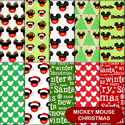 MICKEY MOUSE CHRISTMAS SCRAPBOOK PAPER - 10 x A4 pages