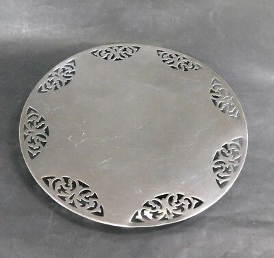 Antique Silver Plated Plate Platter on Low Foot