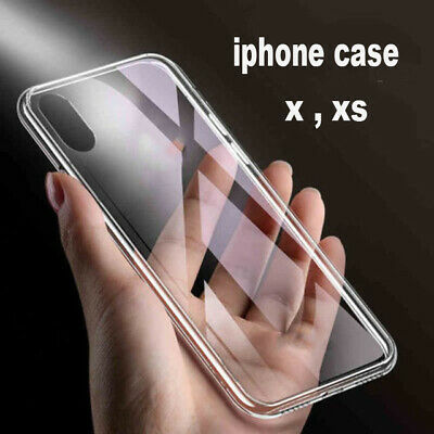 For iPhone X XS Case Silicone Clear Bumper Gel iPhone 10 10S New Cover