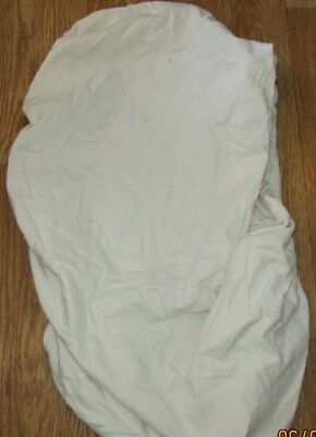 Cream Fitted Bottom Cotton Sheet For Crib.Mamas & Papas