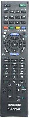 Compatible Sony Remote Control for Bravia TV *RM-ED047*