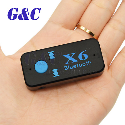 Wireless Bluetooth Audio Music Receiver Stereo Car Adapter Mic 3.5mm AUX NEW