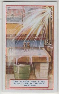 Why Frozen Water Pipes Burst 90+  Y/O Trade Ad Card