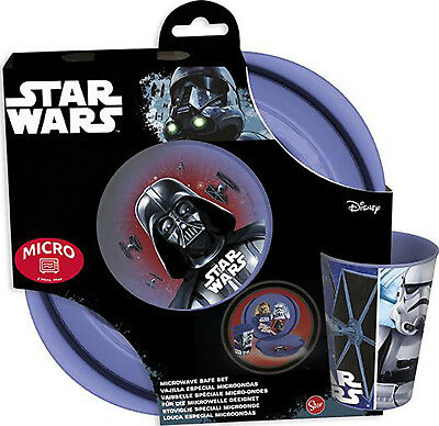 Disney Star Wars Bowl Plate and Tumbler Microwave Safe Set