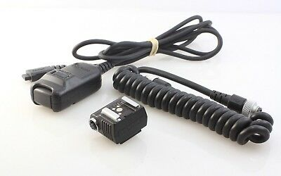 Pentax accessories, Cable Switch F, Hot Shoe Adapter F, TTL Extension Cord F5P