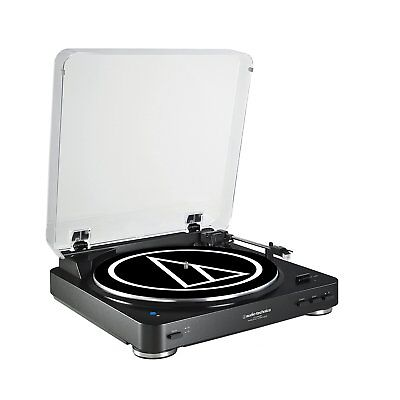 Audio Technica Fully Automatic Stereo Record Player Bluetooth Turntable, Black