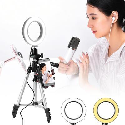 Dimmable 5.7'' LED SMD Ring Light Camera Photo Video Annular Lamp Make Up Studio