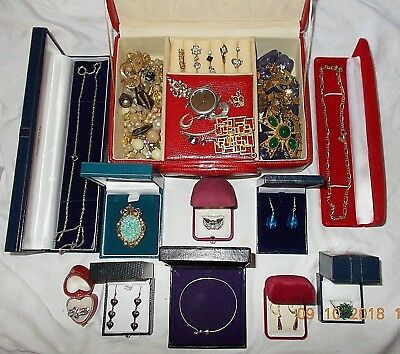 Job Lot of Vintage & Modern Jewellery Inc. 925 Sterling Silver & Rolled Gold