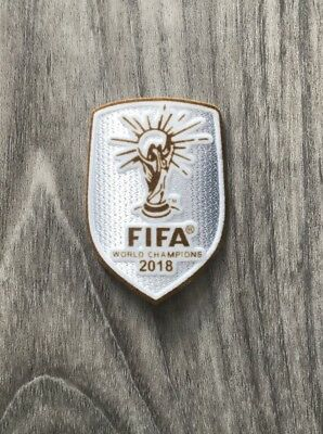 Patch Vainqueur De La Coupe Du Monde 2018 Version Silver. Winner Badge World Cup