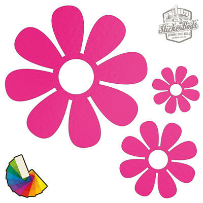 20 Daisy Flower Car & Wall Stickers / Decals | Choose from 30 Colours S6