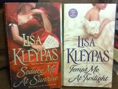 2 Pb Book Hist Romance- Lisa Kleypas- Tempt Me At Twilight /seduce Me At Sunrise