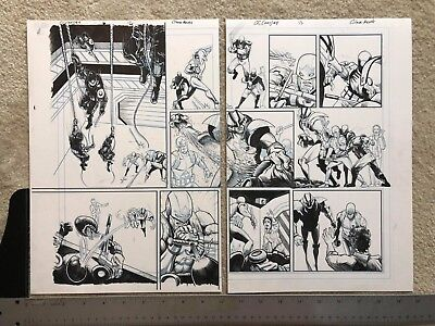 Captain Canuck #4 Original Art, Two-Page spread, PUBLISHED, signed by Artist.