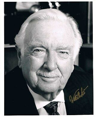 Walter Cronkite Signed Photo COA UACC