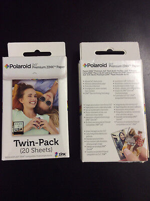 Double pack Polaroid 2x3ʺ Premium Photo Zink Paper  40 Pack  Polaroid Snap 5870