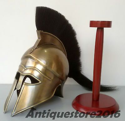 Medieval Greek Corinthian Helmet Antique 300 Movie Spartan european with stand