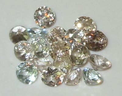 6.84ct Lot 18pcs Small Size Cambodian Zircon Rounds 3.75-4.15mm SPECIAL