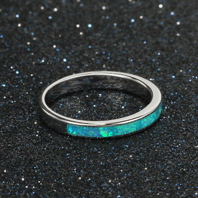 Fashion Women Opal Ring For Wedding Engagement Ring Band Jewelry Size 5-12 D
