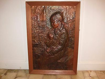 Arts And Crafts Style Dutch Or Italian Work On Copper Sheet By A.turchetti