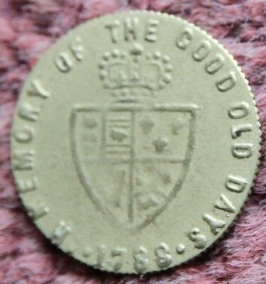 1788 Coin Gaming Token In Memory of the Good Old Days King George III Georgian
