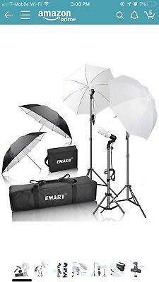 Emart 600W Photography Photo Video Portrait Studio Day Light Umbrella  Kit