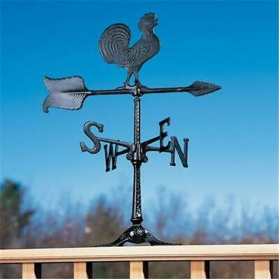 Whitehall Products 00067 24 in. Rooster Accent Weathervane - Black