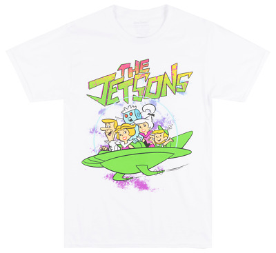 The Jetsons Space Family T-Shirt White Mens Hanna-Barbera Tv Show Tee