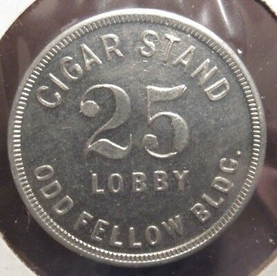 Vintage Cigar Stand Odd Fellow Bldg. Indianapolis, IN 25c Trade Token Indiana