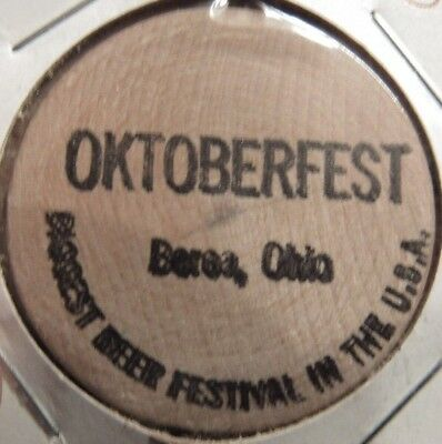 Vintage Oktoberfest Berea, OH Wooden Nickel - Token Ohio