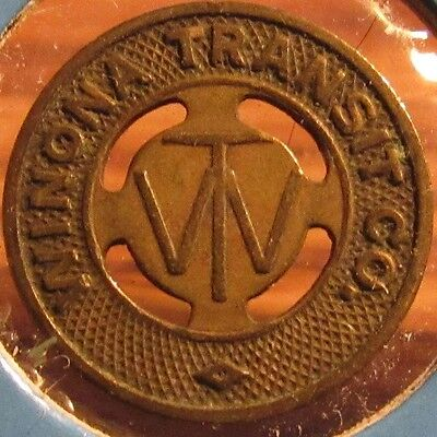 1944 Winona, MN Transit Co. Bus Token - Minn. Minnesota