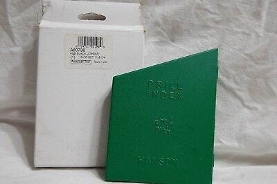 """Hanson Drill Index with 13 Drill Bits 1/16"""" to 1/4"""""""