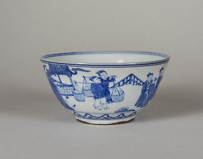 Lot 61: Chinese Antique Blue N White Bowl,1940-1960