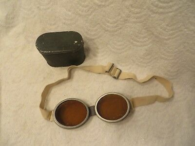 Vintage Military Amber Goggles
