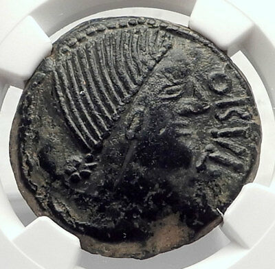 OBULCO IBERIA SPAIN 2ndCenBC Genuine Authentifc Ancient Greek Coin NGC i72732