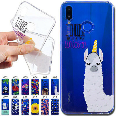 For Huawei P Smart+/Nova 3i Painted Silicone Soft Case Skin Gel TPU Rubber Cover