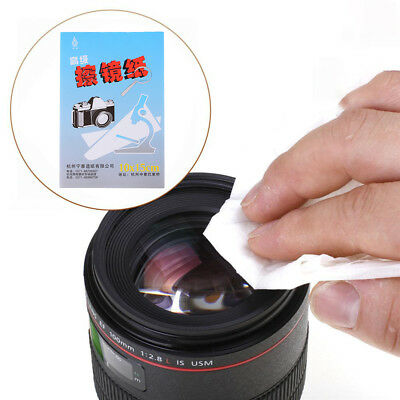 50 Sheets Soft Camera Lens Optics Tissue Cleaning Clean Paper Wipes Booklet L Ln