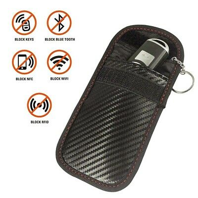 1Pc Signal Blocker Car Key Case Faraday Cage Fob Pouch Keyless RFID Blocking Bag