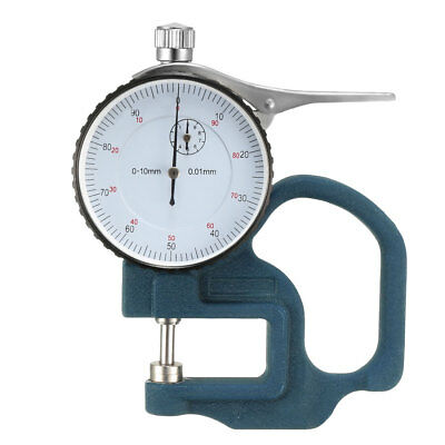 Thickness Gauge,0-10x30mm Range 0.01mm Resolution Round Dial Thickness Gauge.