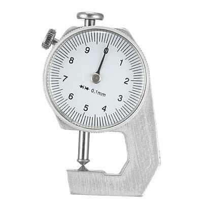 Thickness Gauge, 0 -10mm x 0.1mm Cusp Head Dial Thickness Gauge Measuring Tool